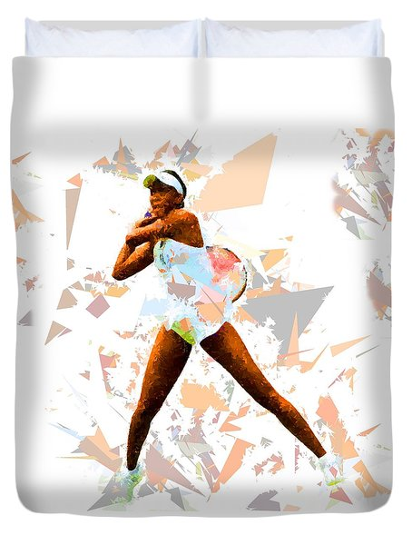 Duvet Cover featuring the painting Tennis 113 by Movie Poster Prints