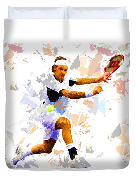 Duvet Cover featuring the painting Tennis 114 by Movie Poster Prints