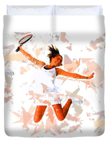Duvet Cover featuring the painting Tennis 115 by Movie Poster Prints