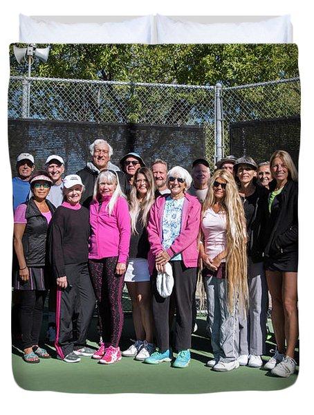 Tennis Potluck Group Shot Duvet Cover