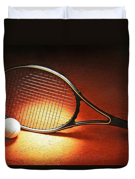 Tennis Racket Duvet Cover