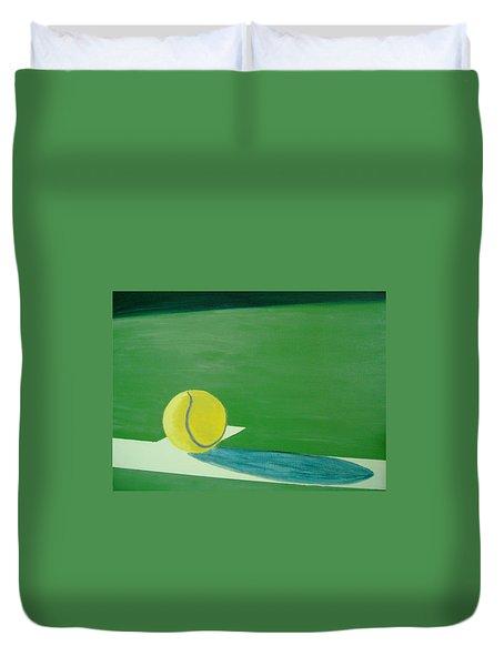 Tennis Reflections Duvet Cover by Ken Pursley