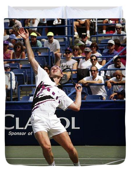 Tennis Serve Duvet Cover
