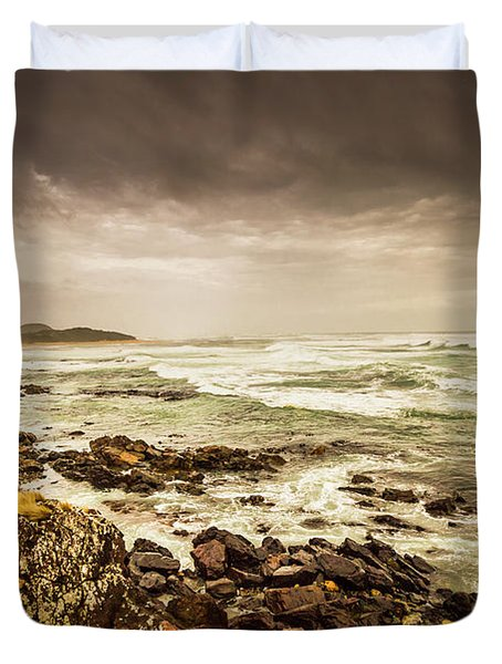 Tense Seas Duvet Cover