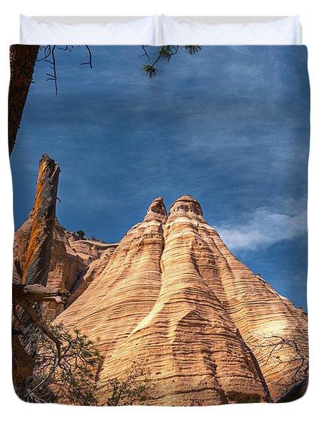 Tent Rock And Ponderosa Pine Duvet Cover