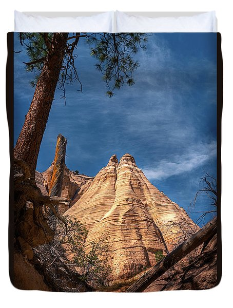 Tent Rock And Ponderosa Pine Duvet Cover