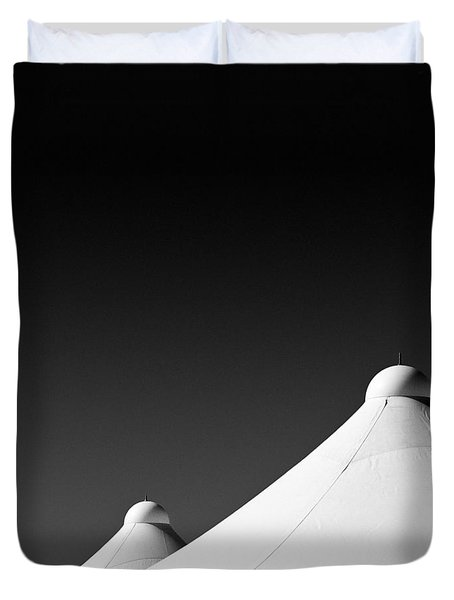 Tent Tops Duvet Cover by Dave Bowman