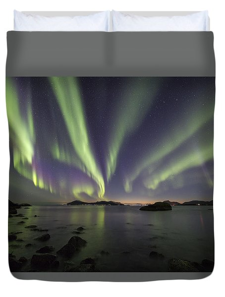 Tentacles In The Sky Duvet Cover