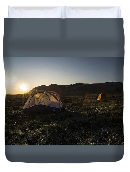 Tenting In The Midnight Sun Duvet Cover