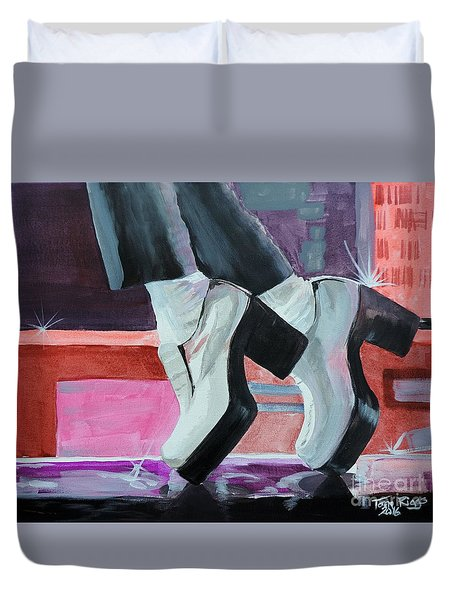 Duvet Cover featuring the painting Tequila by Tom Riggs
