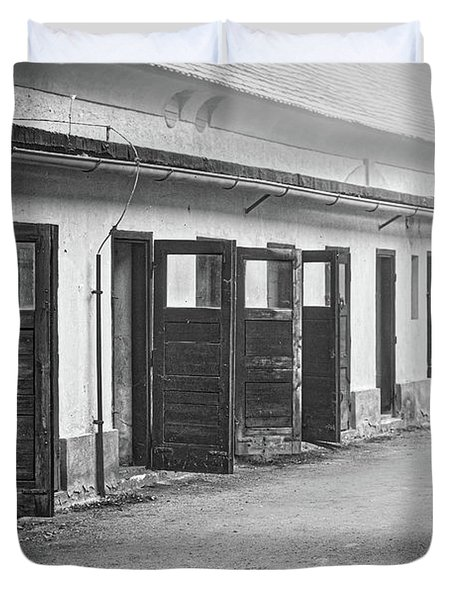 Terezin Cell Block Doors Duvet Cover