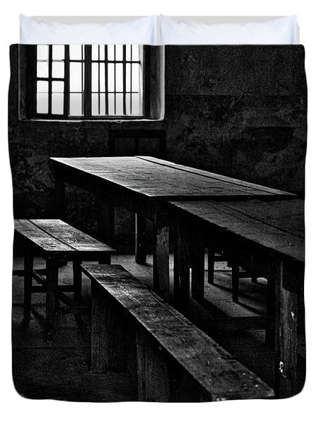 Terezin Tables, Benches And Window Duvet Cover