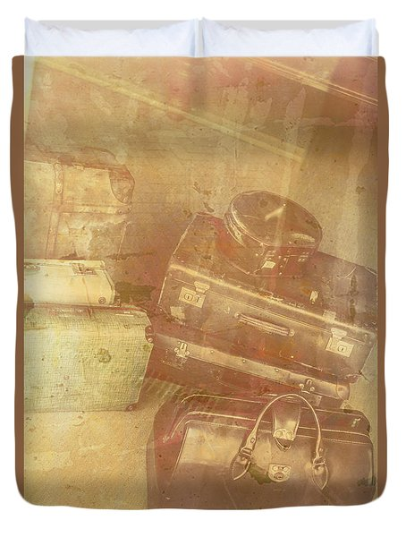 Terminal Goodbye Duvet Cover by Jorgo Photography - Wall Art Gallery