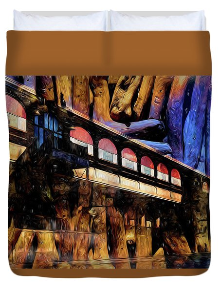 Duvet Cover featuring the photograph Terminal by Richard Ricci