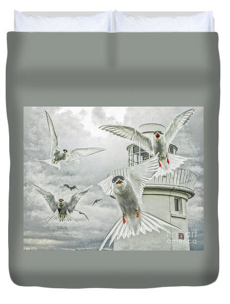 Tern Attack Duvet Cover by Brian Tarr