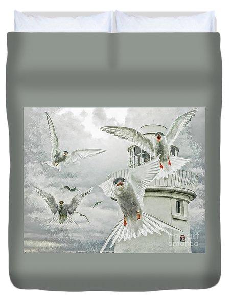 Tern Attack Duvet Cover