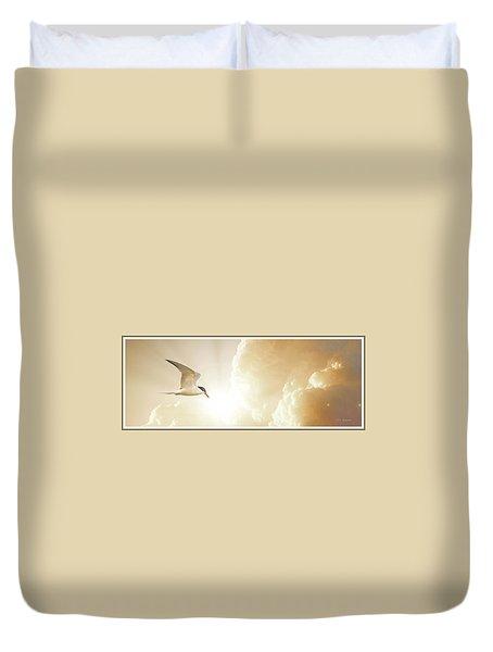 Tern In Flight, Spiritual Light Of Dusk Duvet Cover