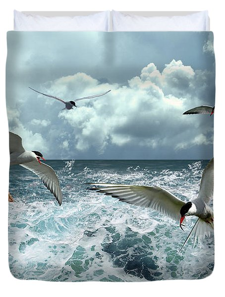 Terns In The Surf Duvet Cover