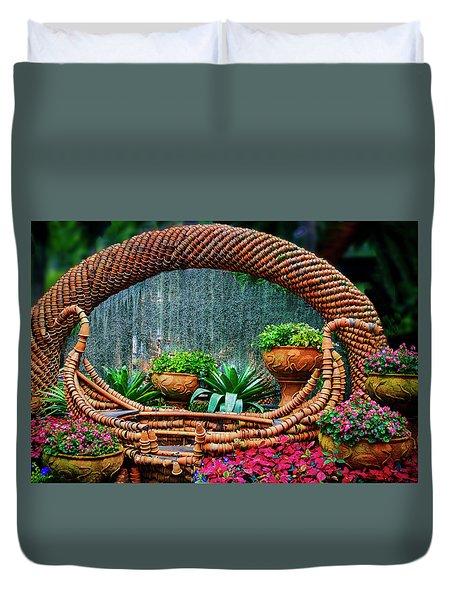 Duvet Cover featuring the photograph Terra Cotta Pot Gondola Art by Joseph Hollingsworth