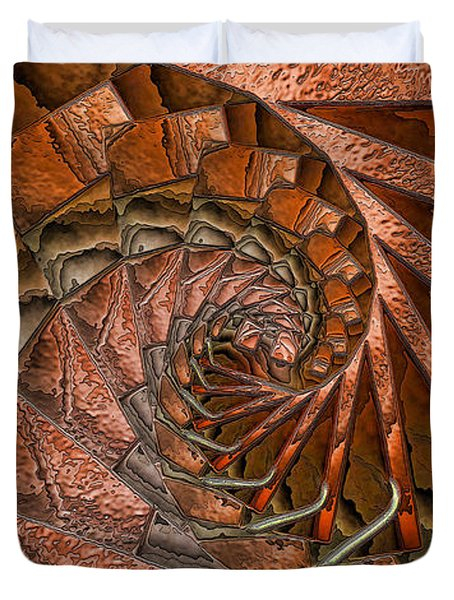Terra Cotta Duvet Cover by Ron Bissett