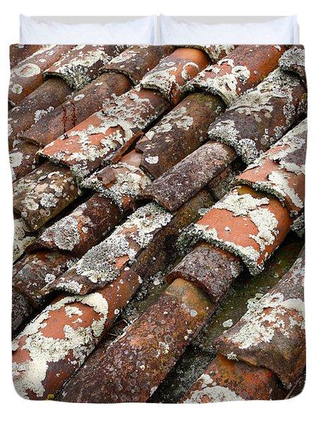 Terra Cotta Roof Tiles Duvet Cover by Gaspar Avila