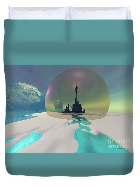 Terra-moon Duvet Cover by Corey Ford