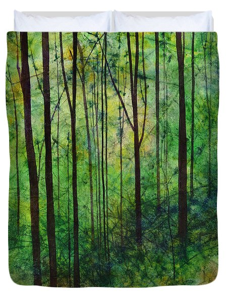 Duvet Cover featuring the painting Terra Verde by Hailey E Herrera