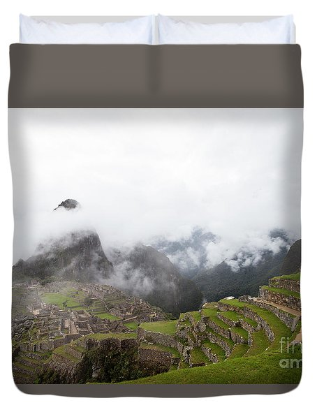 Terraces And Ruins Duvet Cover