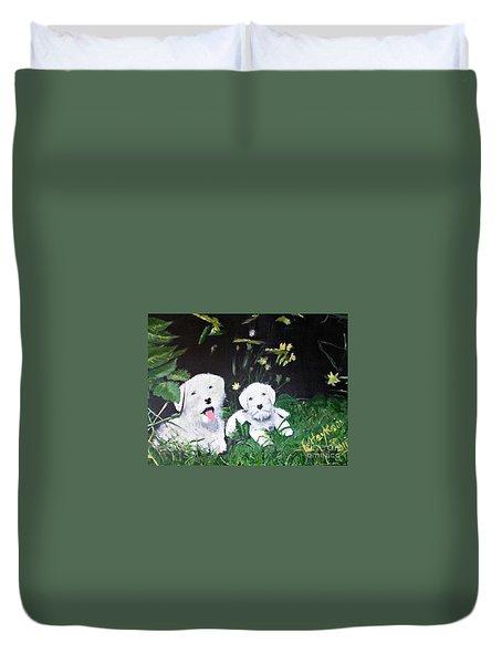 Terriers' Farm Pals. Duvet Cover by Francine Heykoop