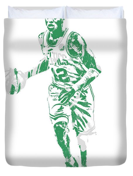 Terry Rozier Boston Celtics Pixel Art 10 Duvet Cover