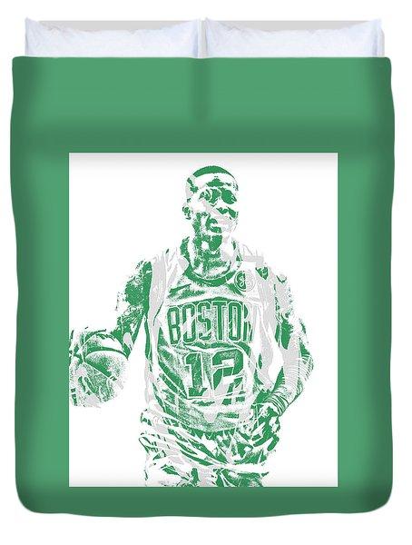 Terry Rozier Boston Celtics Pixel Art 11 Duvet Cover