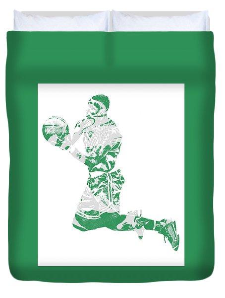Terry Rozier Boston Celtics Pixel Art 12 Duvet Cover