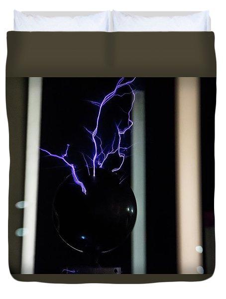 Tesla Coil 2 Duvet Cover