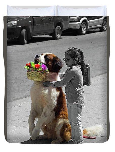Cuenca Kids 952 Duvet Cover by Al Bourassa