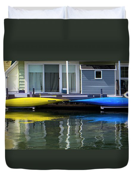 Marina Living In Victoria British Columbia 2to1 Duvet Cover by Ben and Raisa Gertsberg