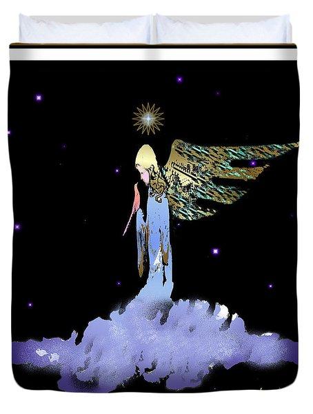 Heavenly Visit Duvet Cover