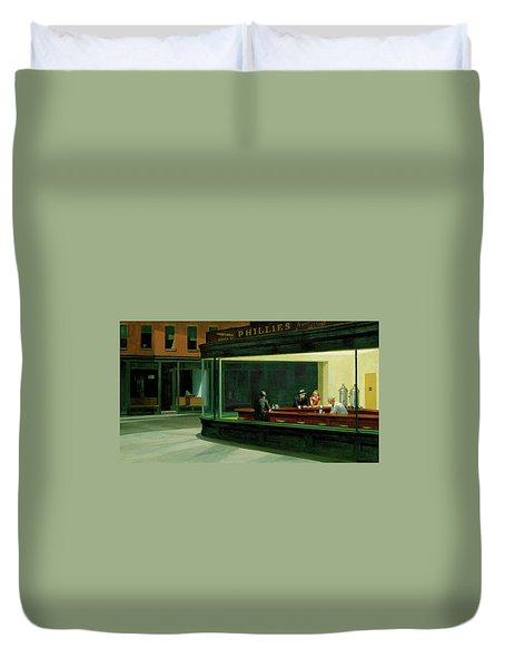 Duvet Cover featuring the photograph Test Tavern by Edward Hopper