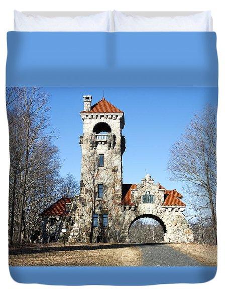 Testimonial Gateway Tower #1 Duvet Cover by Jeff Severson