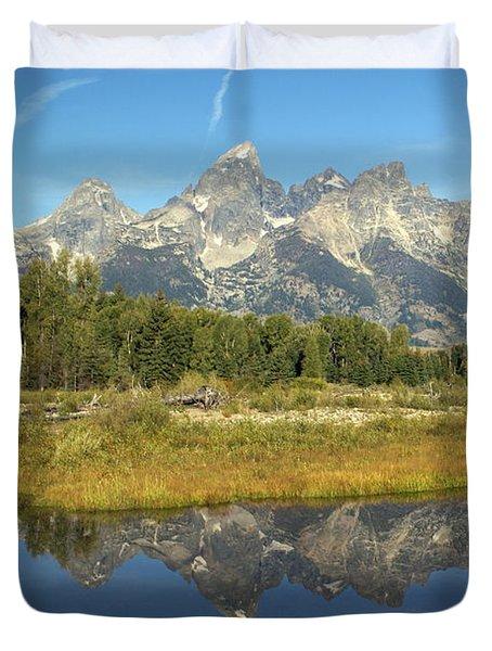 Teton 5 Duvet Cover by Marty Koch
