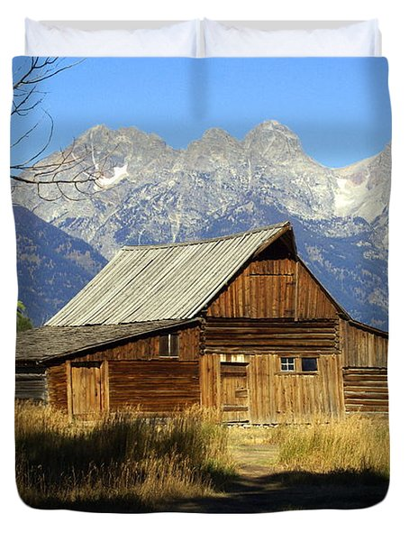Teton Barn 4 Duvet Cover by Marty Koch