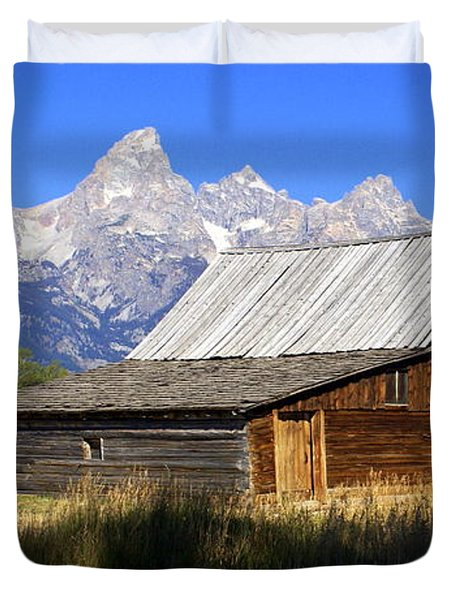 Teton Barn 5 Duvet Cover by Marty Koch