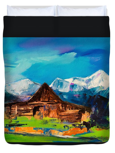 Teton Barn  Duvet Cover