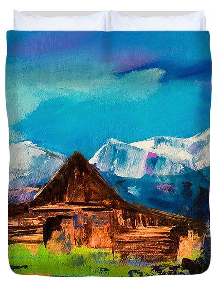 Teton Barn  Duvet Cover