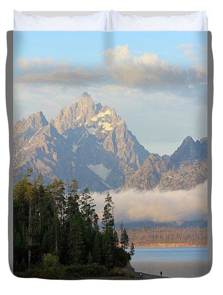 Teton Early Morning Duvet Cover