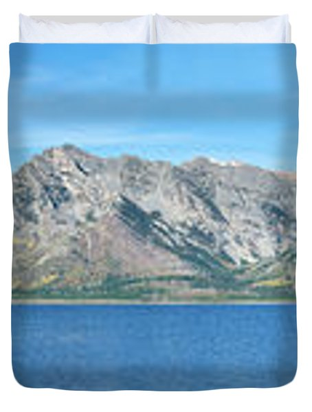 Teton Moonset Borderless Duvet Cover by Greg Norrell
