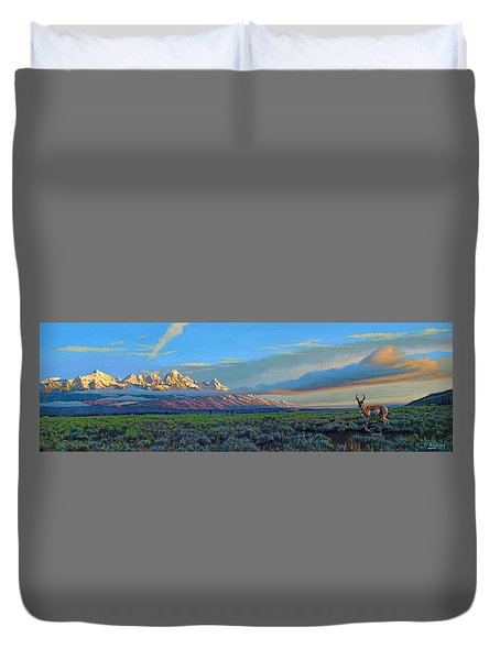 Teton Morning Duvet Cover