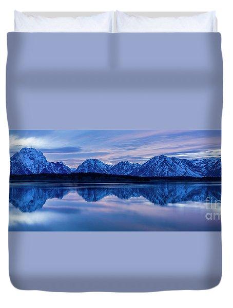 Teton Morning Duvet Cover