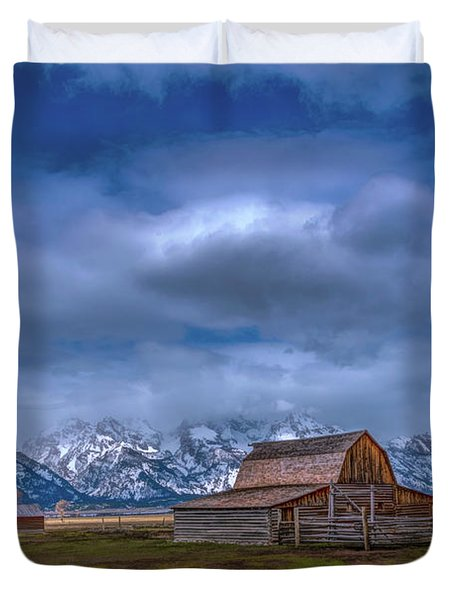 Teton National Park Mormon Row Duvet Cover