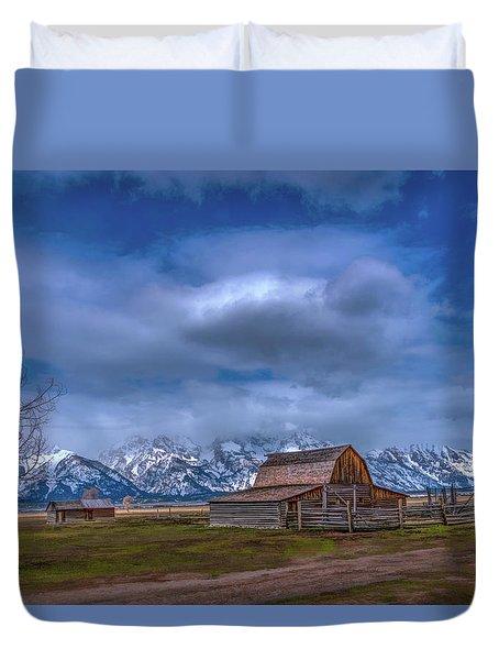 Teton National Park Mormon Row Duvet Cover