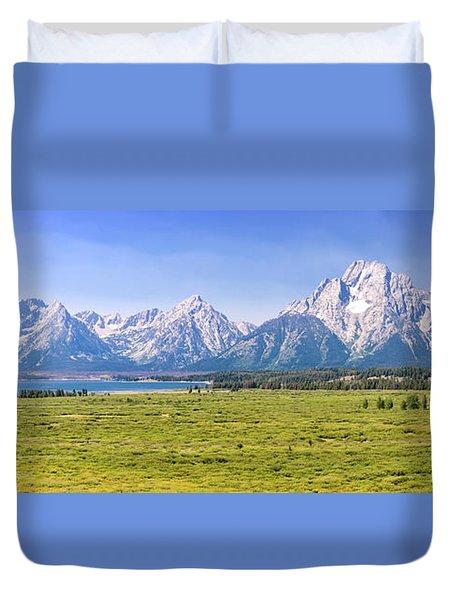 Teton Panorama Duvet Cover